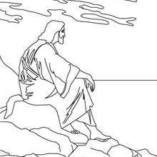 Coloriage de Jésus Christ contemplatif