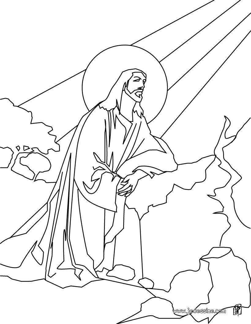Coloriages coloriage de j sus christ dans la lumi re de dieu - Coloriage jesus ...