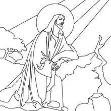 Coloriage de Jésus Christ dans la lumière de Dieu