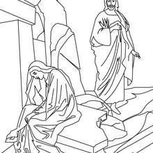 Coloriage de Jésus Christ et Marie-Madeleine