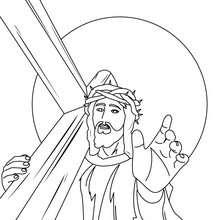 Jésus portant la croix