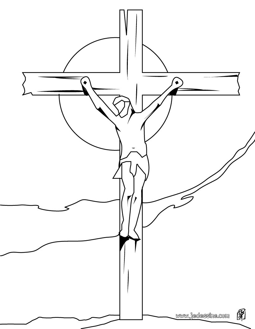 comment dessiner jesus sur la croix