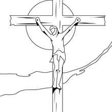 Coloriage : La crucifiction de Jésus Christ