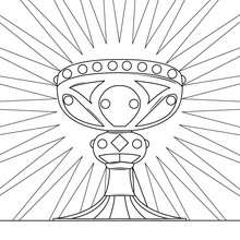 Coloriage du calice de Jsus Christ - Coloriage - Coloriage FETES - Coloriage NOEL - Coloriage PERSONNAGES RELIGIEUX - Coloriage JESUS - Coloriage JESUS CHRIST