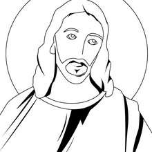 Coloriage du portrait de Jsus Christ - Coloriage - Coloriage FETES - Coloriage NOEL - Coloriage PERSONNAGES RELIGIEUX - Coloriage JESUS - Coloriage JESUS CHRIST
