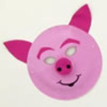 Masque de cochon rose