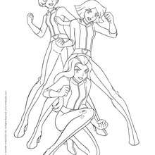Coloriage Totally Spies.Coloriages Totally Spies Fr Hellokids Com