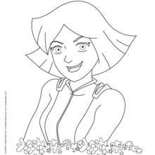 Portrait de Clover - Coloriage - Coloriage TOTALLY SPIES - Coloriage CLOVER