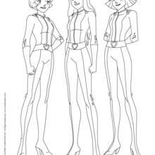 Sam, Alex et Clover 2 - Coloriage - Coloriage TOTALLY SPIES - Coloriage TOTALLY SPIES! A IMPRIMER