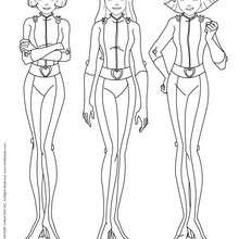 Sam, Alex et Clover 3 - Coloriage - Coloriage TOTALLY SPIES - Coloriage TOTALLY SPIES! A IMPRIMER
