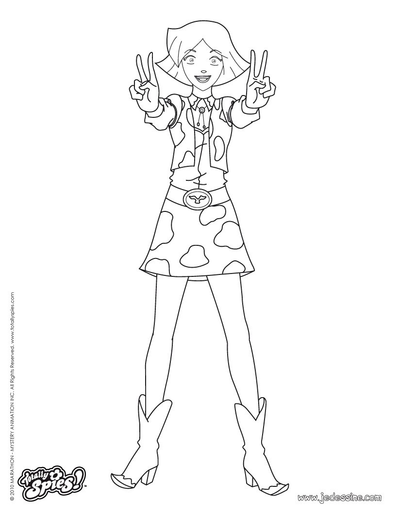 Coloriages clover fashion 3 - Totally spies coloriage ...
