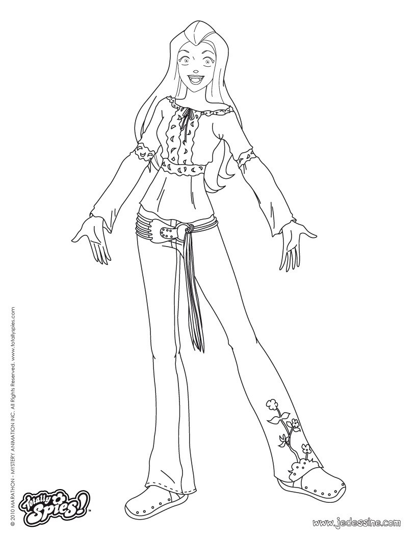 Coloriages sam fashion 4 - Totally spies coloriage ...