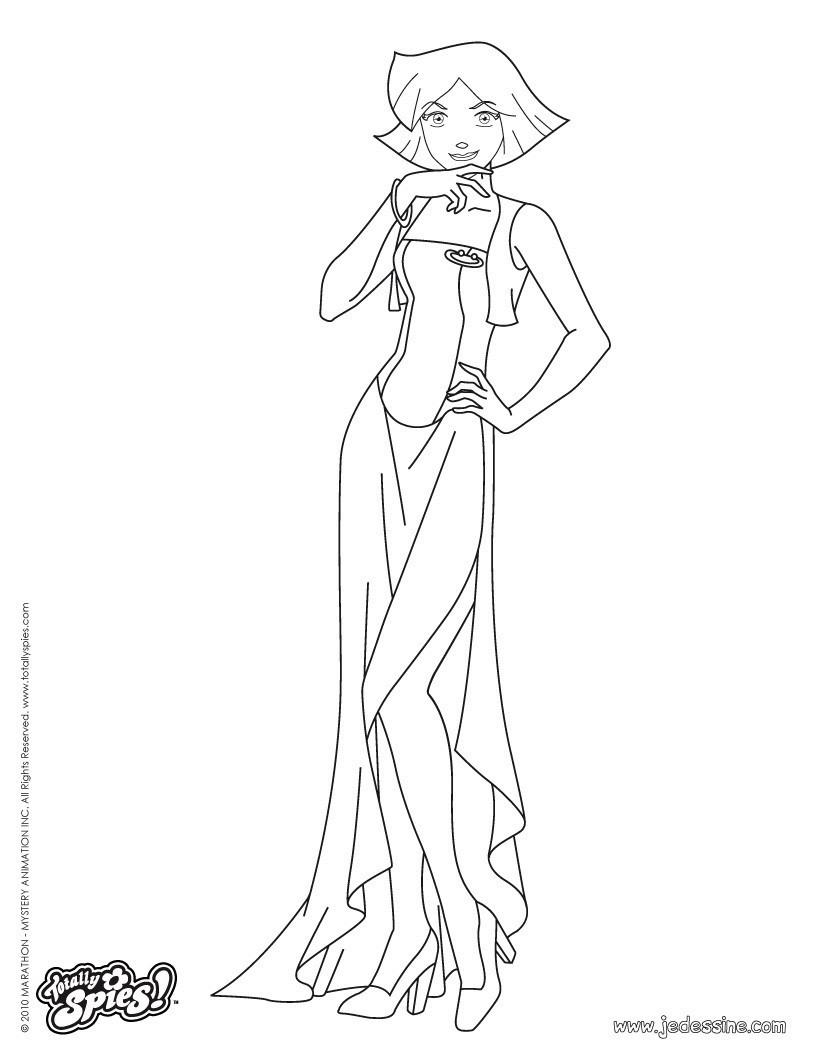 Clover en robe de soirée Coloriage  Clover en robe de soirée 2