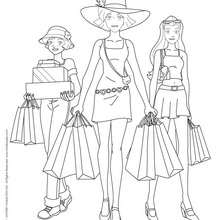 Sam, Alex et Clover - Séance shopping - Coloriage - Coloriage TOTALLY SPIES - Coloriage TOTALLY SPIES! GRATUIT