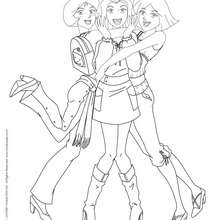 Sam, Alex et Clover 3 - Coloriage - Coloriage TOTALLY SPIES - Coloriage TOTALLY SPIES! GRATUIT