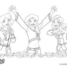 Coloriage : Clover, Alex et Sam