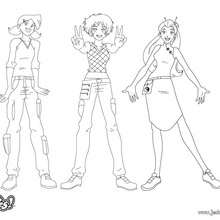 Coloriages mandy - Totally spies coloriage ...