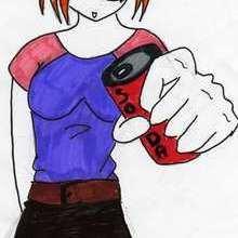 Dessin d'enfant : Jeune fille style Manga