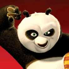 Coloriage Kung Fu Panda : Singe et son bâton