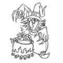 Coloriage MAGIE HALLOWEEN - Coloriage FETES - Coloriage