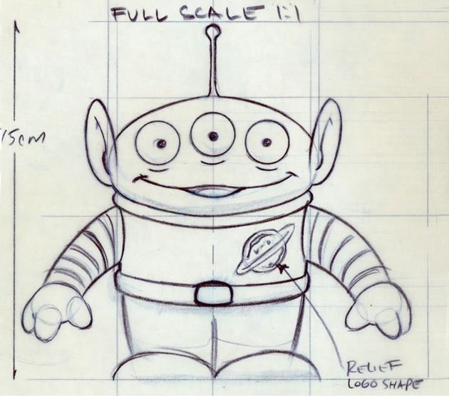 Un alien de Toy Story 1