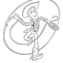 Coloriage Toy Story 3 -  Woody - Coloriage - Coloriage DISNEY - Coloriage DISNEY TOY STORY