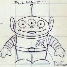 Un alien de Toy Story 1 - Dessin - Esquisses de Toy Story