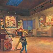La chambre de Andy - Dessin - Esquisses de Toy Story