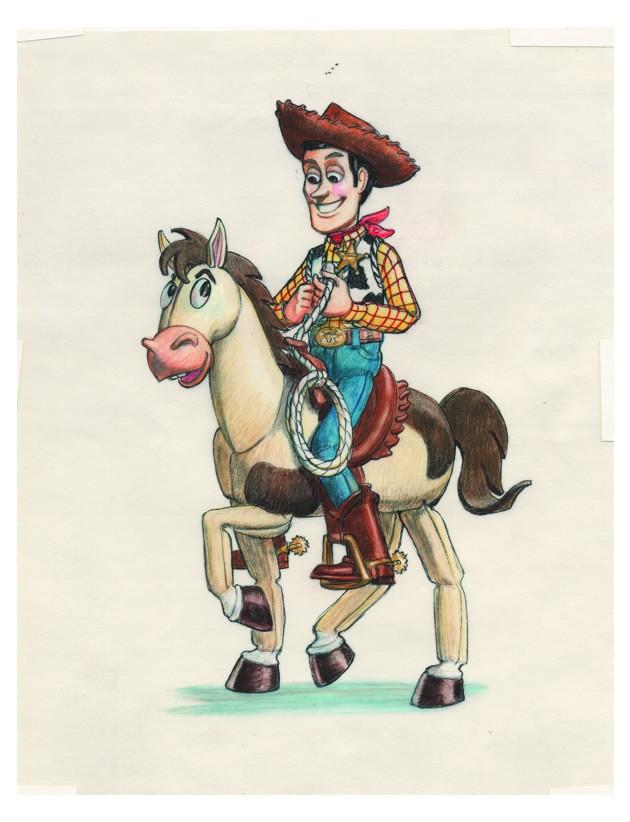 Woody à cheval