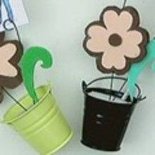 Fiche brico : Porte-photos Pot de fleur
