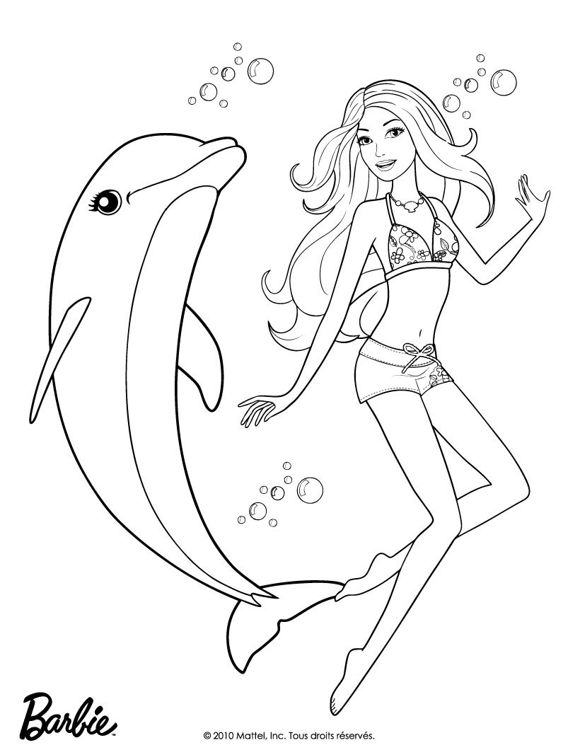 zuma accompagne merliah coloriage coloriage barbie coloriage barbie et le secret des sirnes