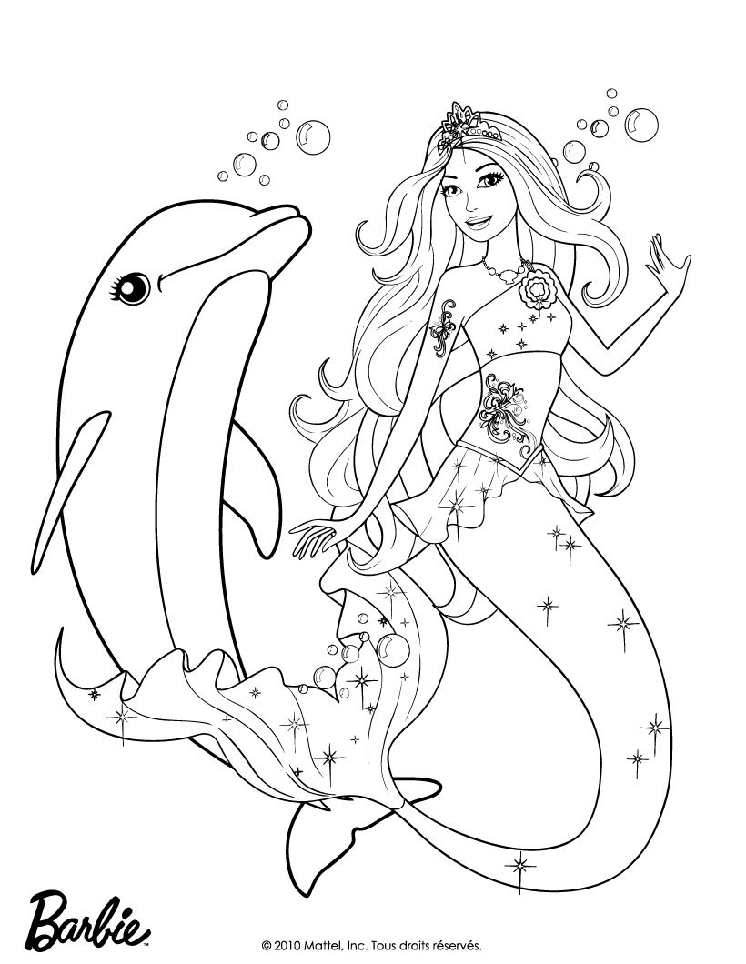 Coloriages la sir ne merliah et zuma - Barbie sirene coloriage ...