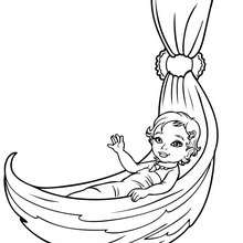 Merliah bébé - Coloriage - Coloriage BARBIE - Coloriage BARBIE ET LE SECRET DES SIRÈNES - Coloriage de MERLIAH