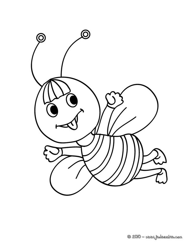 Coloriages coloriage d 39 un b b abeille - Coloriage insecte ...