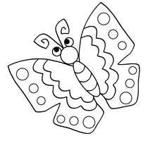 Coloriage : Papillon à imprimer