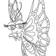 Coloriage : Papillon Kawaii