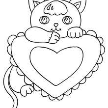 Coloriages de chat coloriages coloriage imprimer gratuit - Coloriage de bebe chat ...