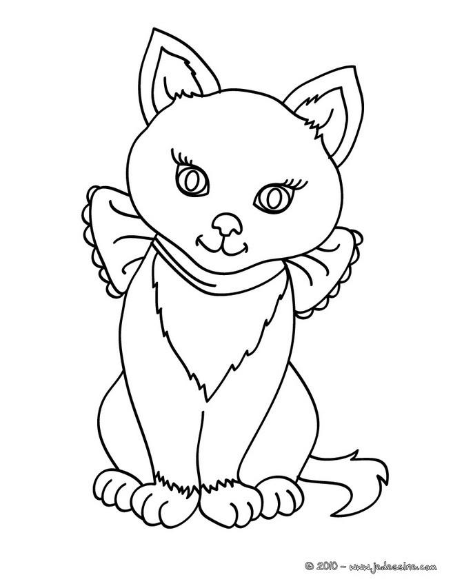 Coloriages chatte l gante - Coloriage de chat en ligne ...