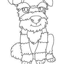 Coloriage de chien : Chien à colorier