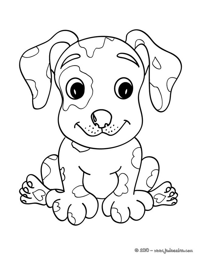 Coloriages chiot kawaii - Chiot coloriage ...