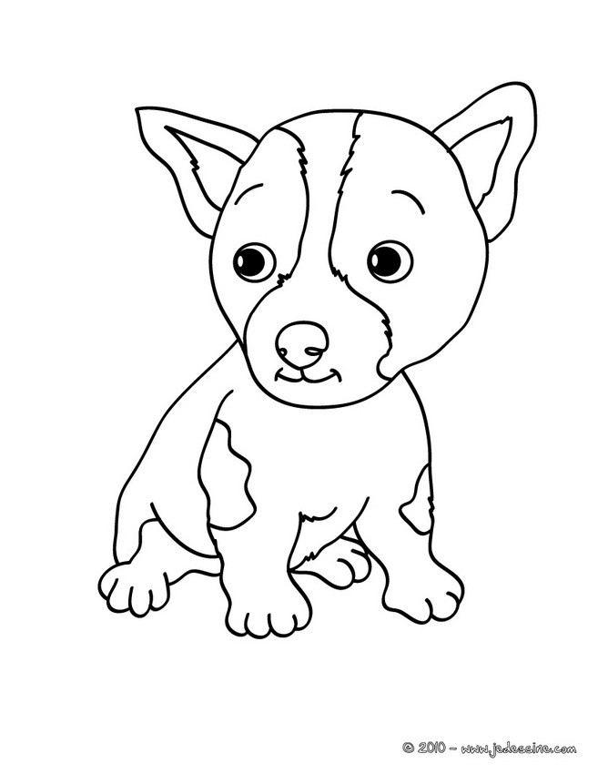 Coloriages chiot - Chiot a colorier ...