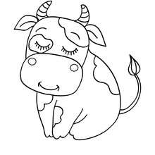 Coloriage d'une jolie vache