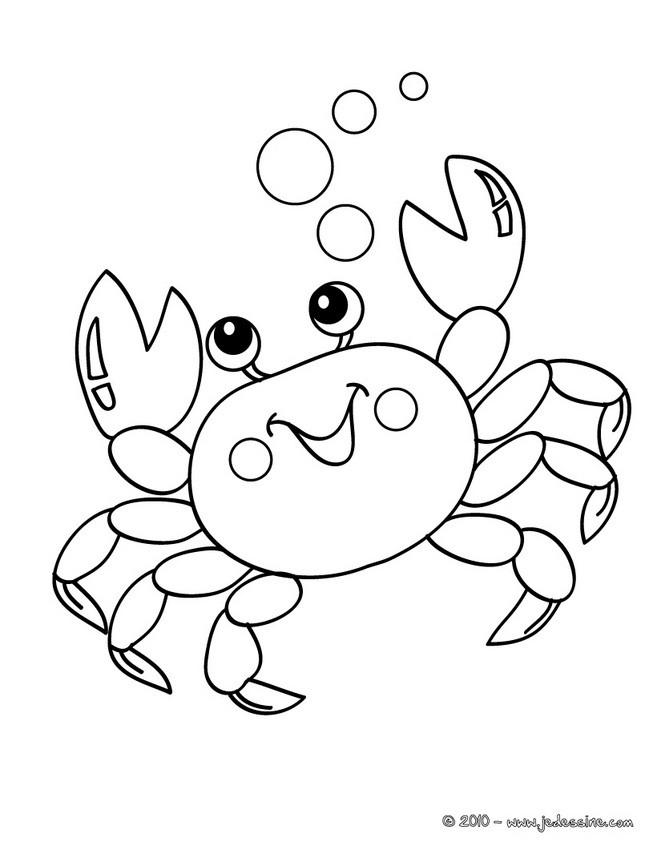 Coloriages crabe colorier - Coloriage martinique ...