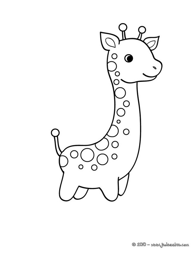 Coloriages coloriage d 39 un b b girafe - Dessins girafe ...