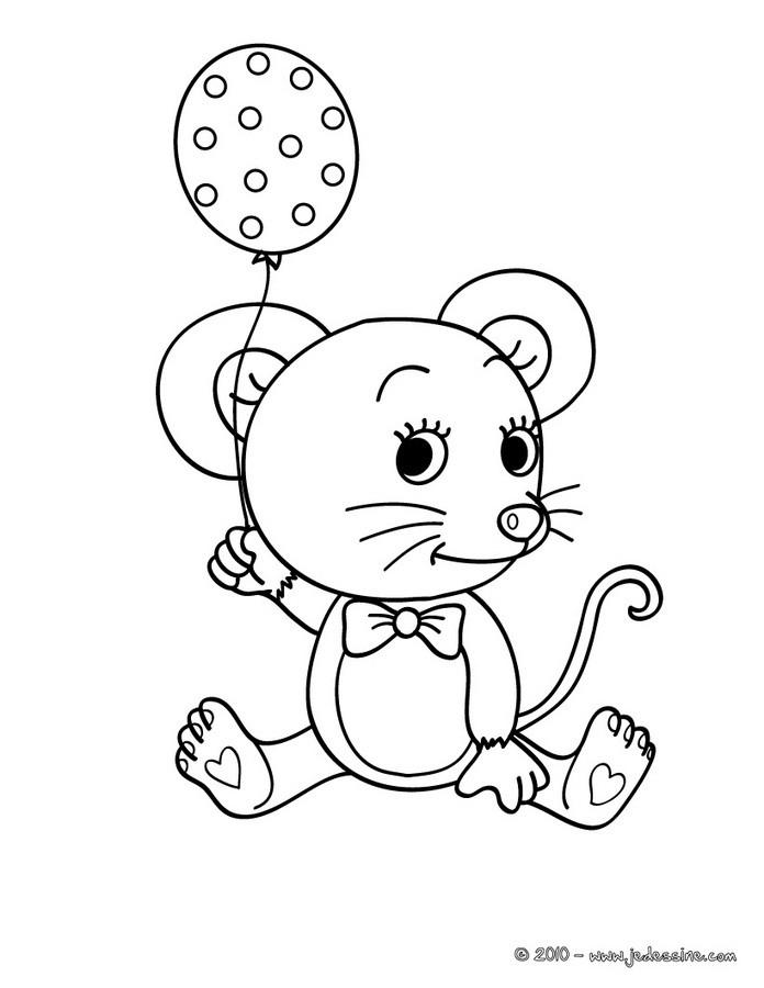 Coloriages coloriage d 39 une souris kawaii - Dessin de petite souris ...