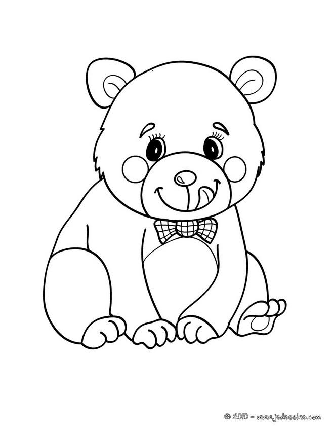 Coloriages coloriage d 39 un ours kawaii - Dessin d un ours ...
