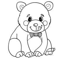 Coloriage d'un OURS KAWAII