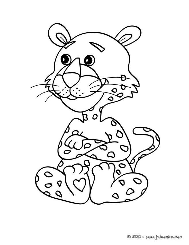 Coloriage Bebe Leopard.Coloriages Coloriage D Un Leopard Fr Hellokids Com