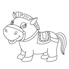 Coloriage : PONEY à colorier