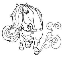 Coloriage D'un PONEY Kawaii